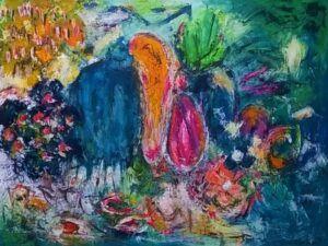 Bubbles maleri af Heidi Bonde