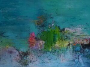 Connected maleri af Heidi Bonde