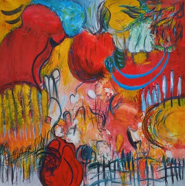 Abstrakte malerier dreamcatcher