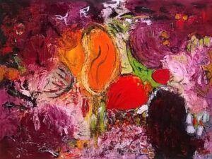 Friends maleri af Heidi Bonde