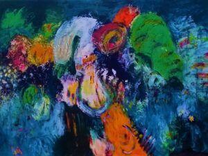 Glow maleri af Heidi Bonde
