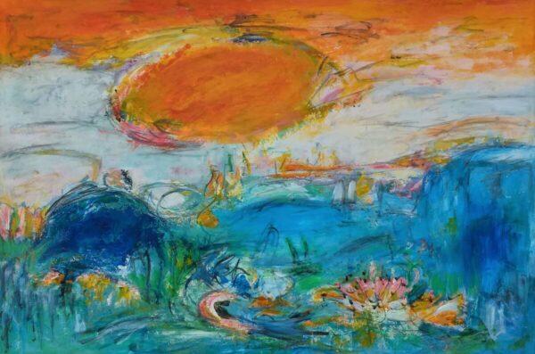 Land of the sun abstrakt maleri
