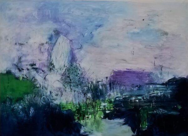 Winter moment maleri af Heidi Bonde