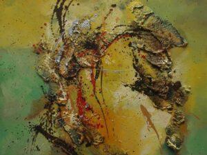Abstrakt eftertænksomhed maleri