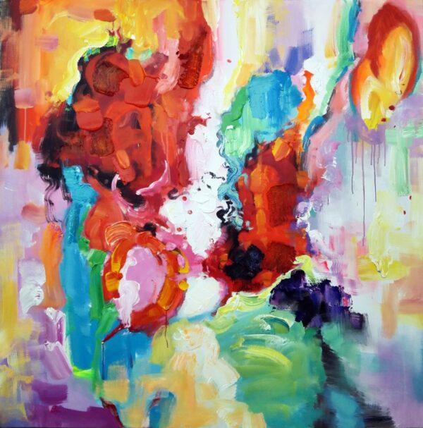 Betagende strøg abstrakt maleri