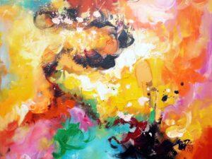 Elegant abstrakt maleri