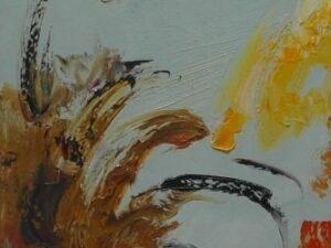 En ud af tre abstrakt maleri