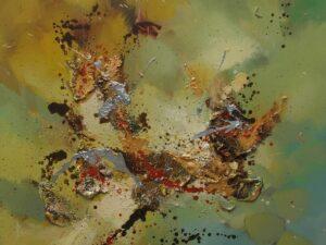 Forårsvarme abstrakt maleri