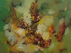Grønne fjelde abstrakt maleri