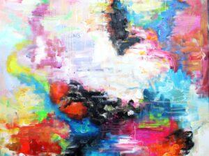 Hjerte på kærlighedsmaleri abstrakt