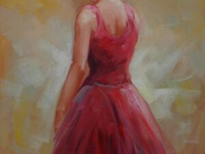 Kvinde i rødt maleri