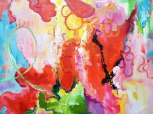 Lystig abstrakt maleri