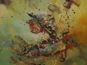Metallist gyldenhed maleri