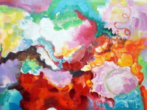 Positive følelser abstrakt maleri