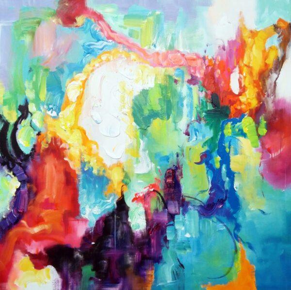 Rolig abstrakt maleri