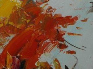 To ud af tre abstrakt maleri