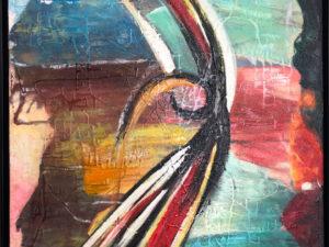 Udspring abstrakt maleri