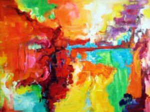 Udstråling abstrakt maleri
